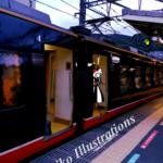 熱海の電車にて(日本)