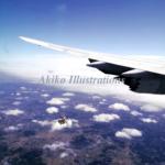 雲の上に(日本行きの飛行機からの景色)