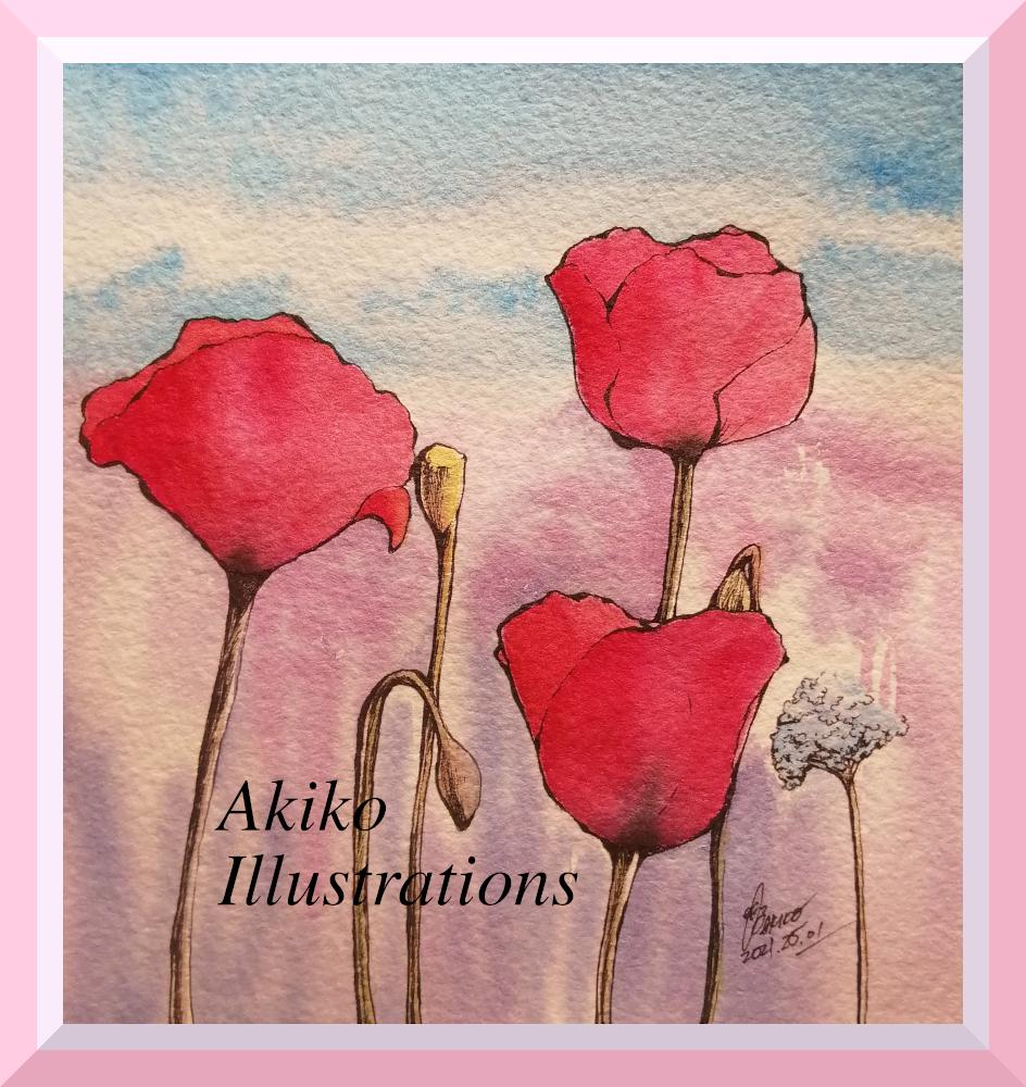 Poppies -15cm x 15 cm