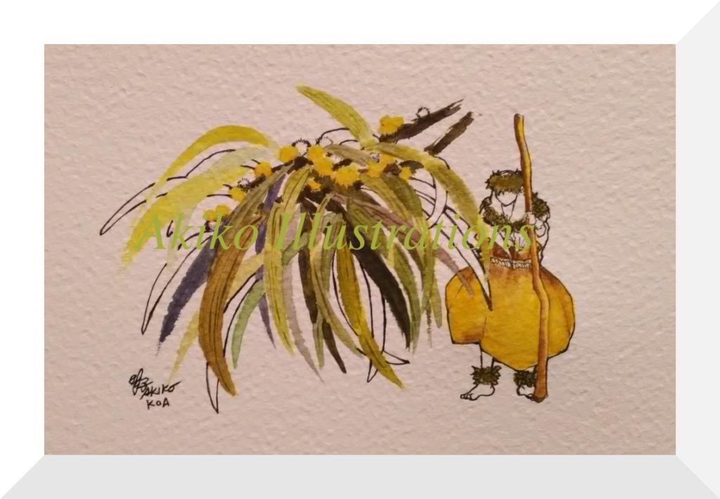 Hula dancer - Koa- 16cm x 23cm