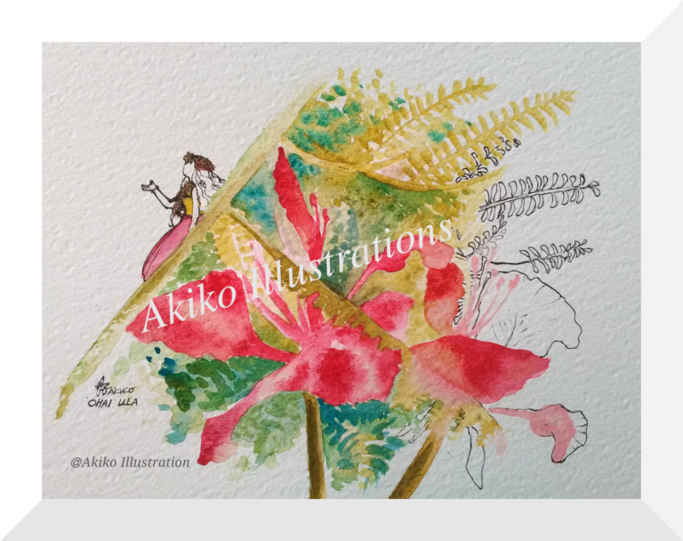 Hula dancer - Ohai Ula-16cm x 23cm