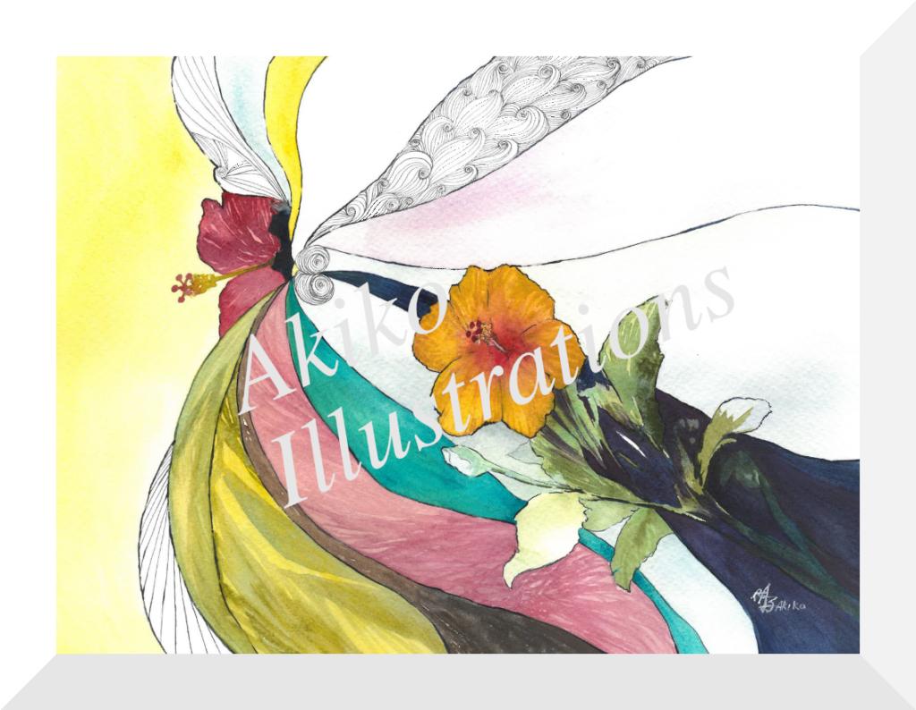 Harmoney - Hybiscus -30cm x 40cm