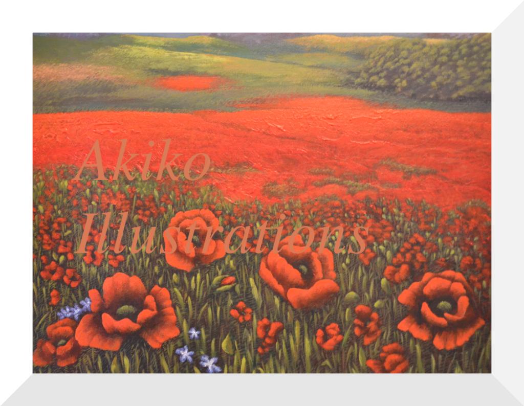 (SOLD)Poppy field