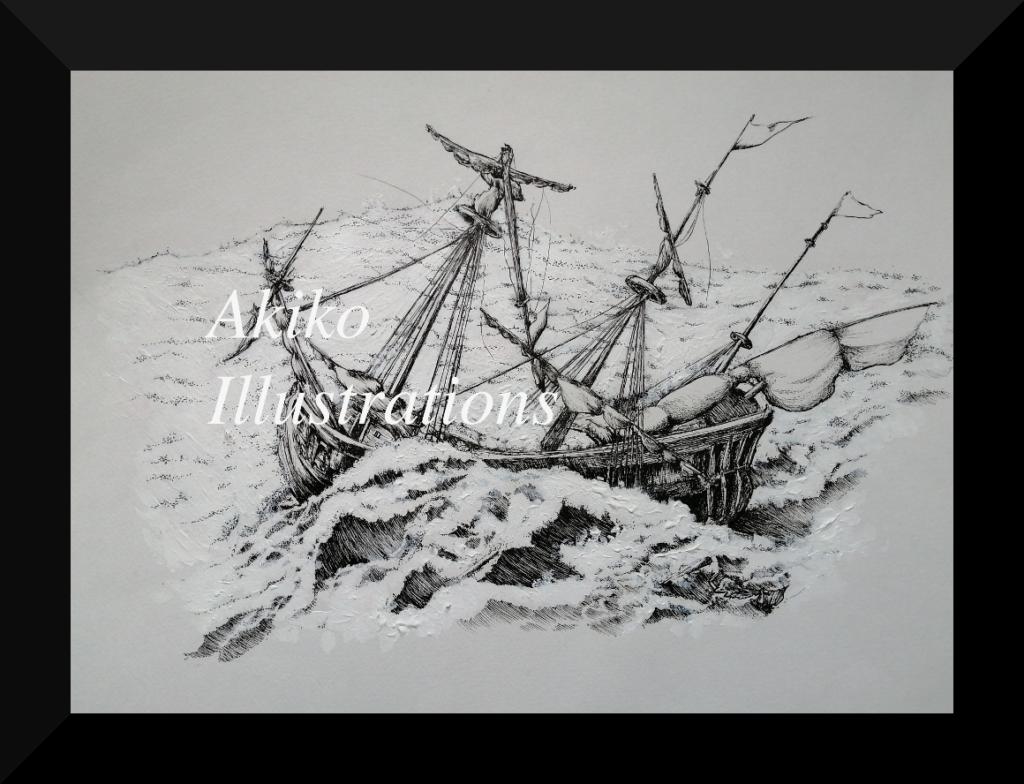 Stormy sea - 30cm x 40cm